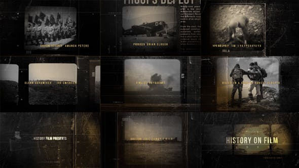 Videohive History On Film 19802992