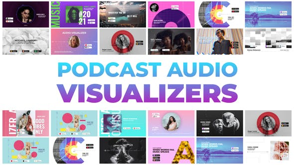 Videohive Podcast Audio Visualizers 32505559