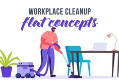 Videohive Workplace cleanup - Flat Concept 33263984